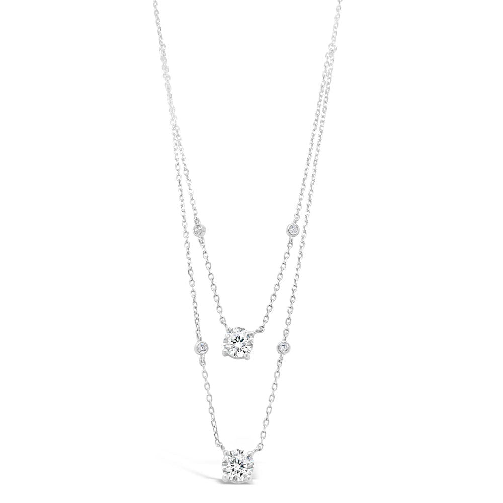 Nova Diamante Sterling Silver Double Necklace