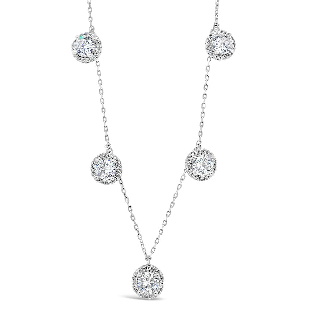 Lexi Diamante Sterling Silver Charms Necklace