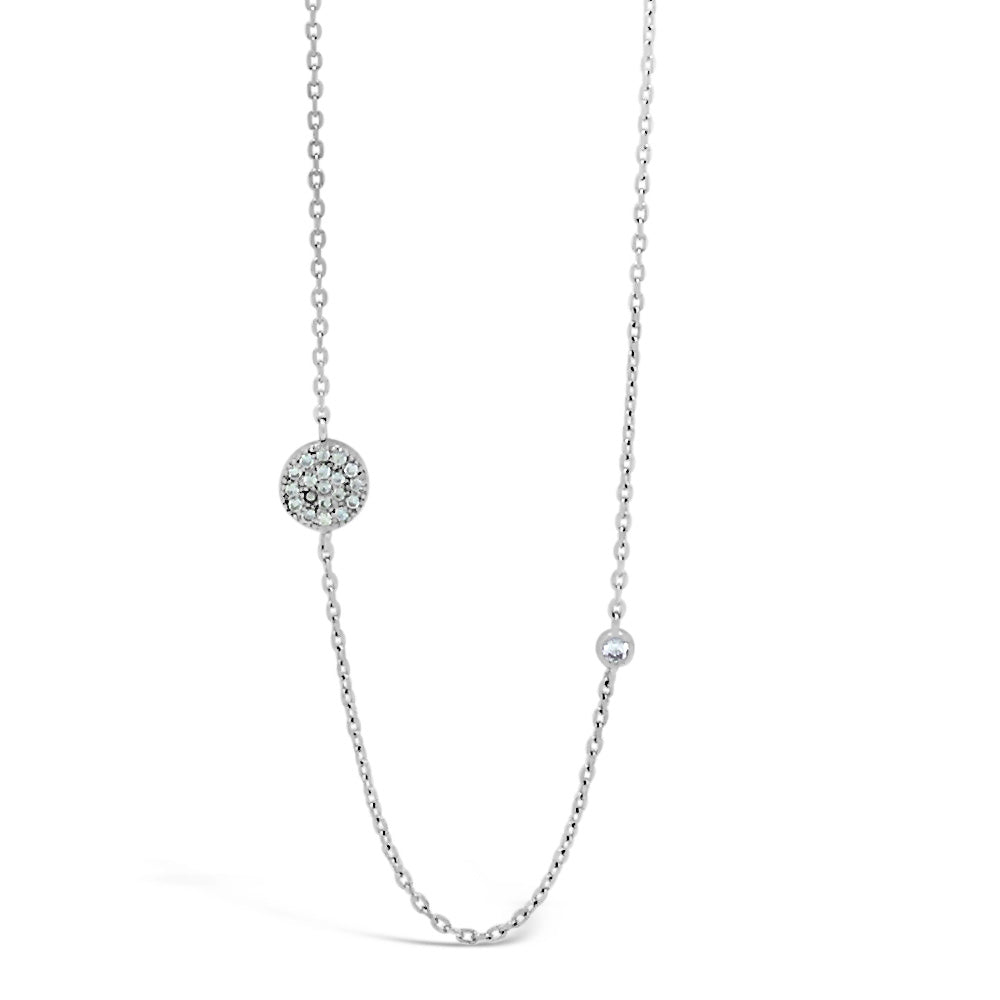 Lila Diamante Sterling Silver Crystal Necklace