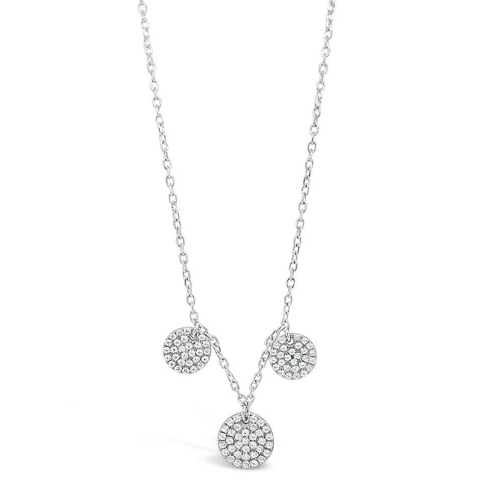Talia Diamante Circles Charms Sterling Silver Necklace
