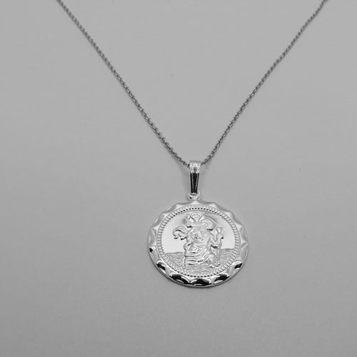 St. Christopher's Sterling Silver Engravable Medal