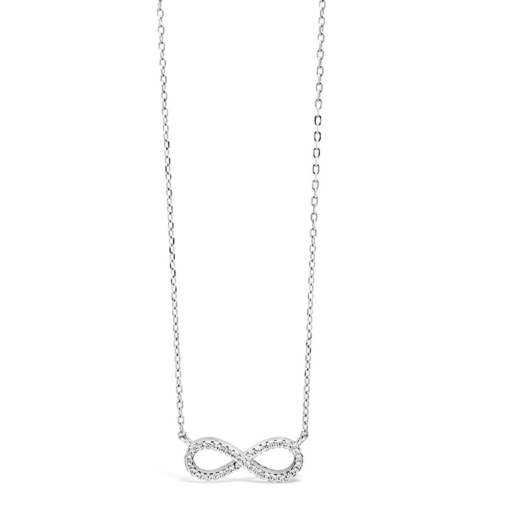 Infinity Diamante Sterling Silver Crystal Pendant