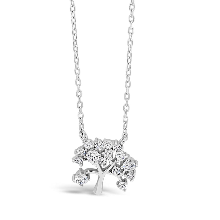 Tree of Life Sterling Silver Diamante Pendant