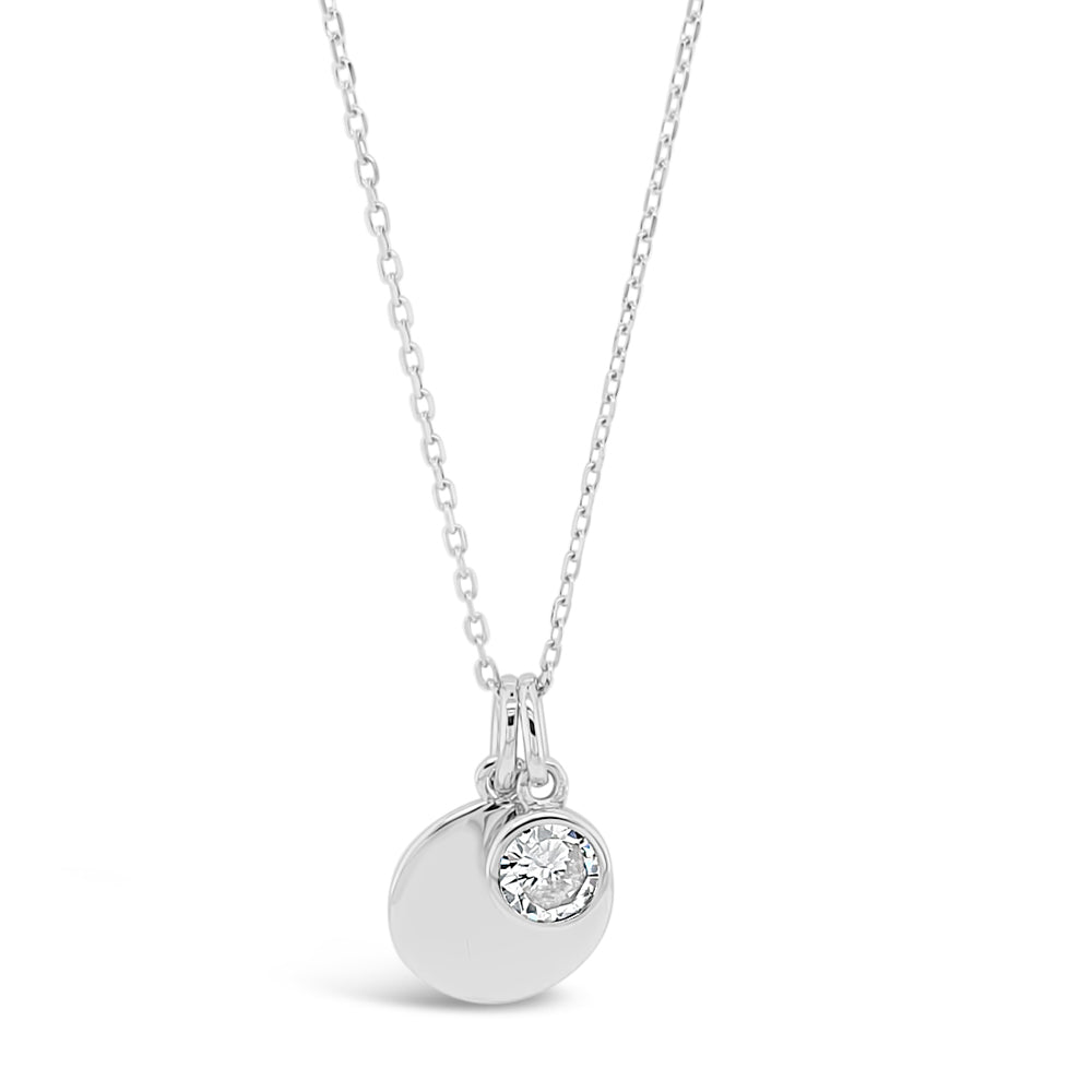 April Birthstone Sterling Silver Pendant - Eva Victoria