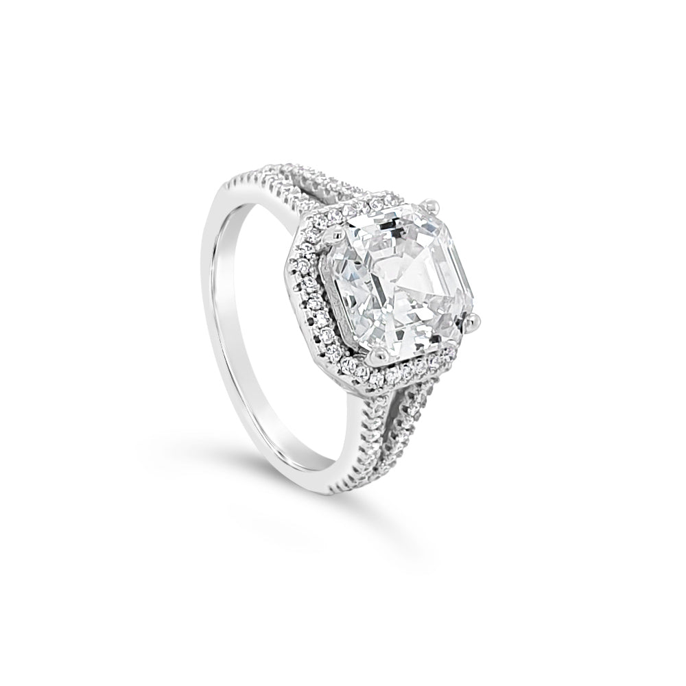 Cora Diamante Absolute Sterling Silver Ring