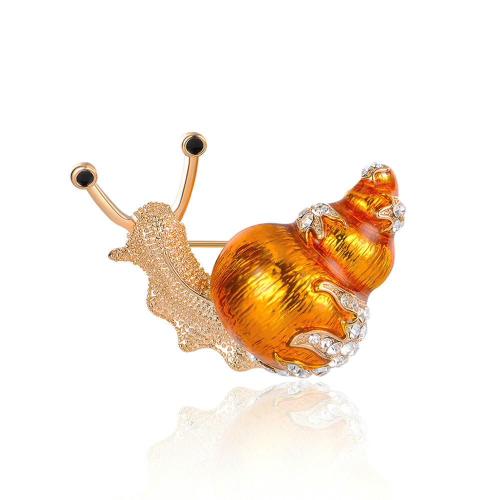 Gary the Snail Gold Pin Brooch