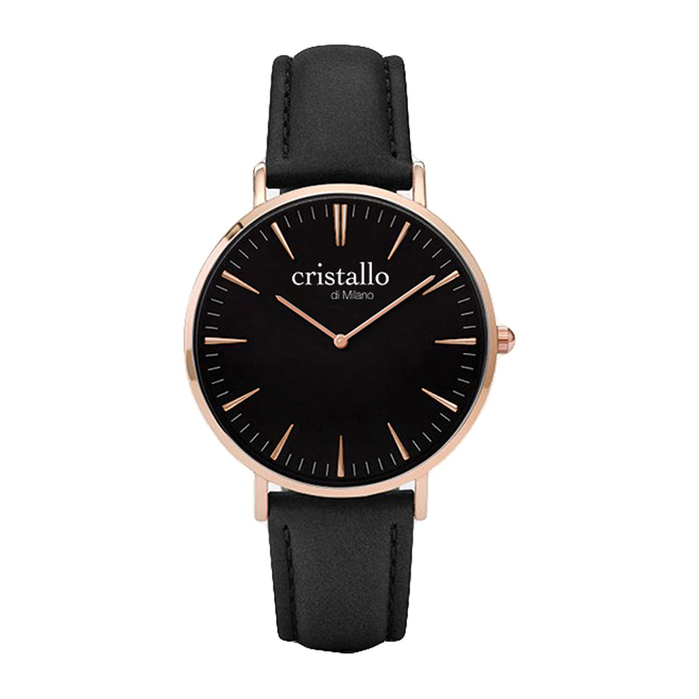 Noir Bohemian Black On Black In Rose Gold Timpiece