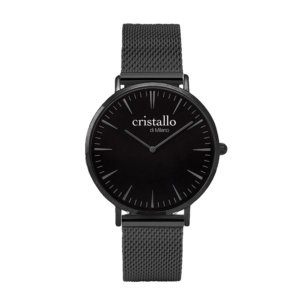 Noir Bohemian Black On Black With Mesh Quick Release Strap