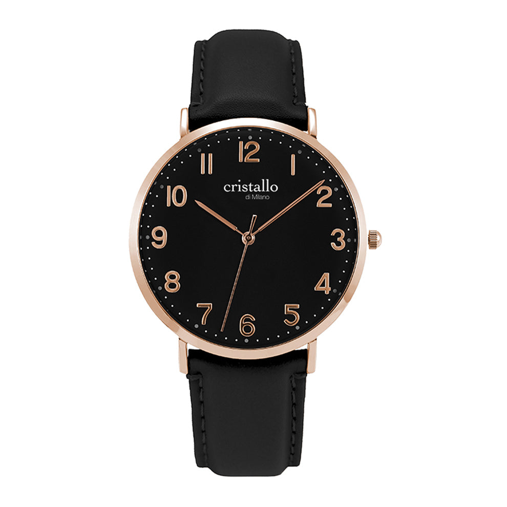 Noir Cardinal Black On Black Rose Gold Timepiece