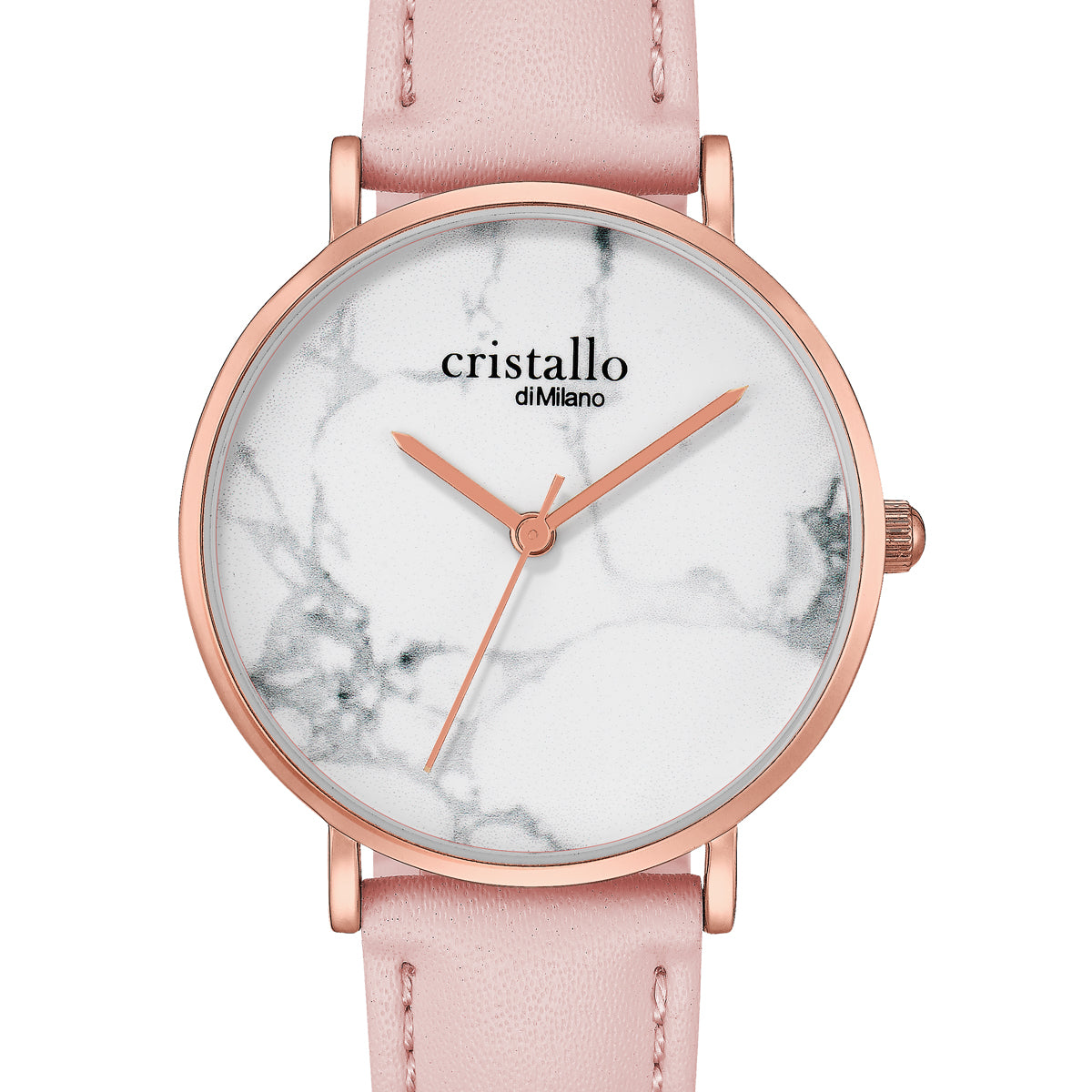 Little Roche Marble Pink on White in Rose Gold Watch