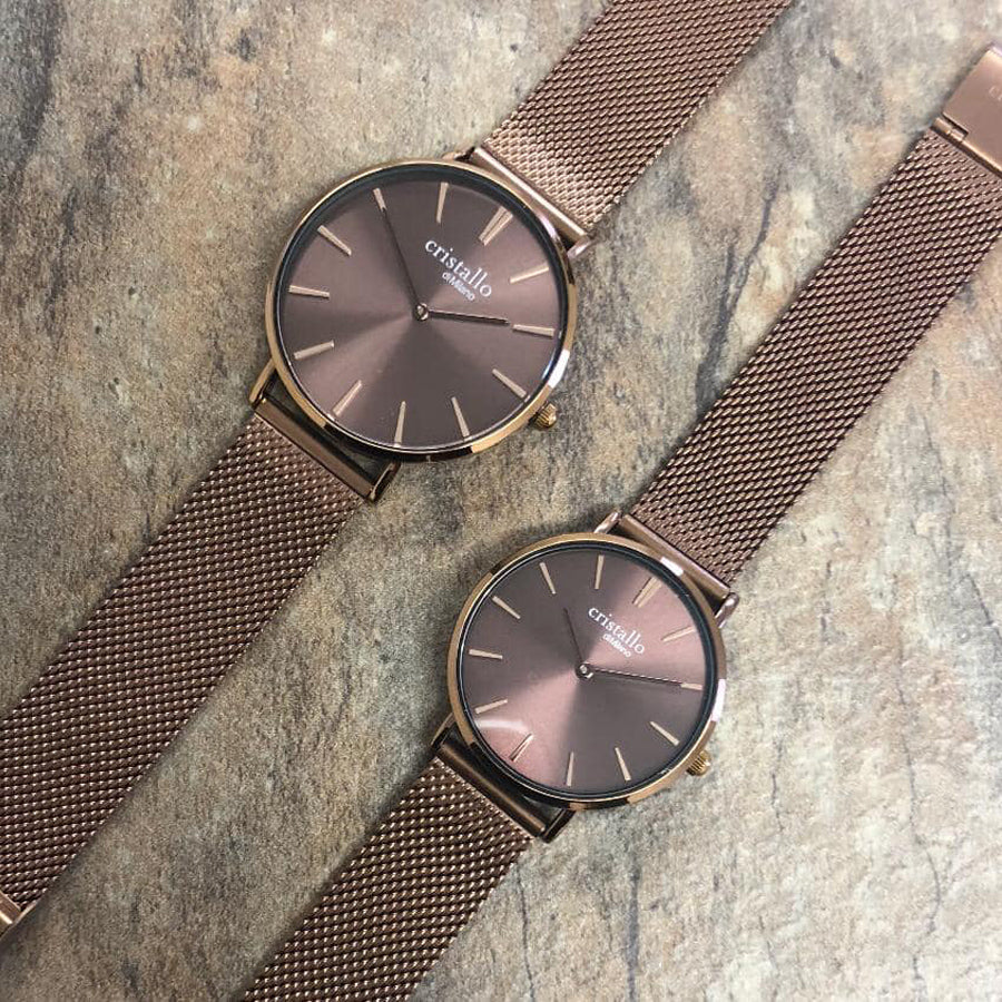 Bohemian Mocha In Dark Brown Mesh Strap
