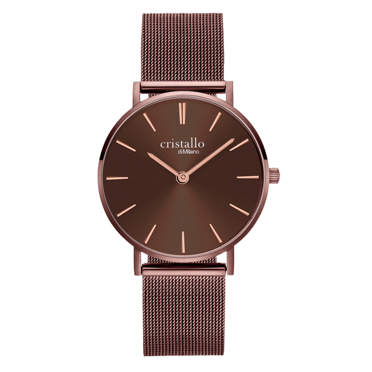 Little Bohemian Mocha In Dark Brown Mesh Strap