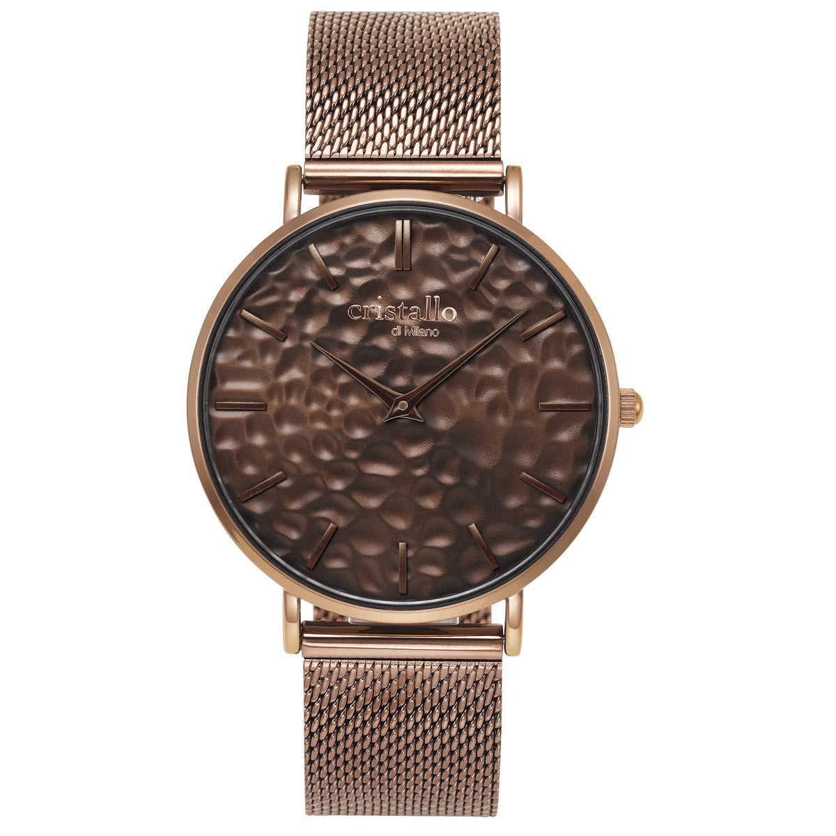 Aero Mocha On Dark Brown Mesh Strap - Eva Victoria