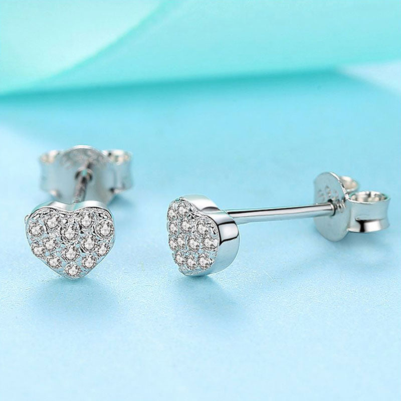 Eva Little Love Swarovski Sterling Silver Earrings