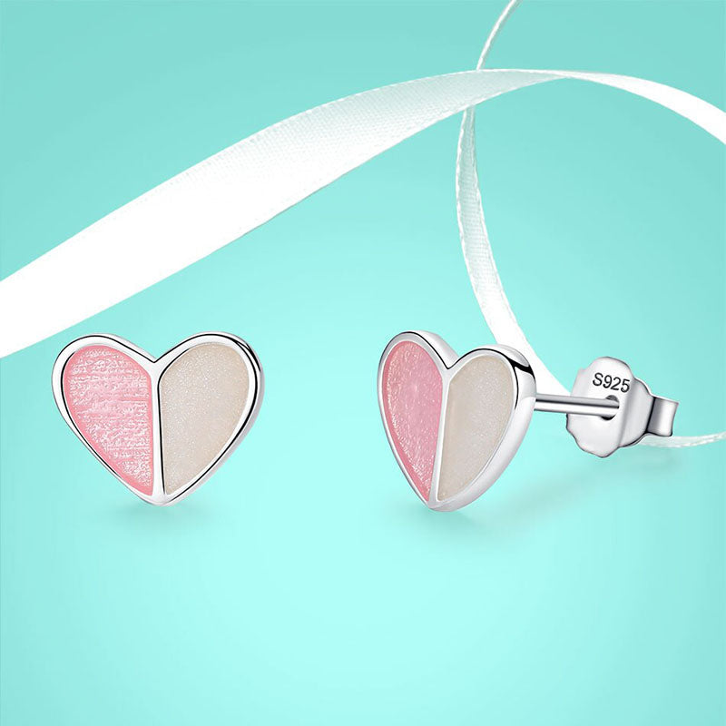 Eva Two Heart Sterling Silver Earrings