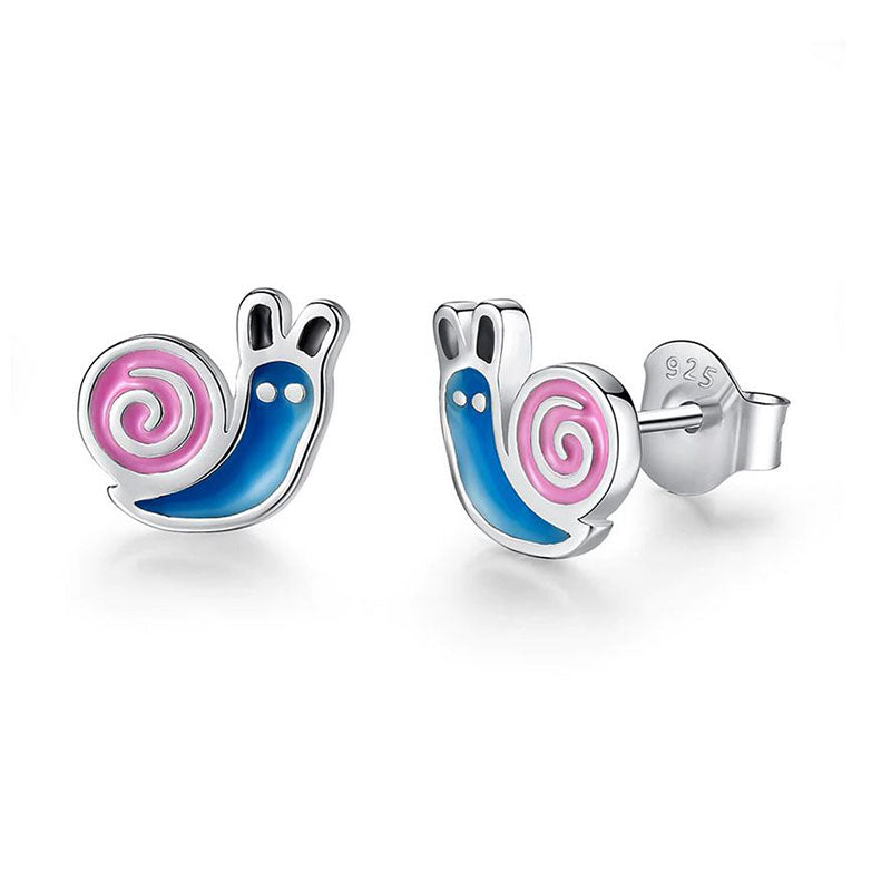 Eva Crawling Snail Sterling Silver Earrings
