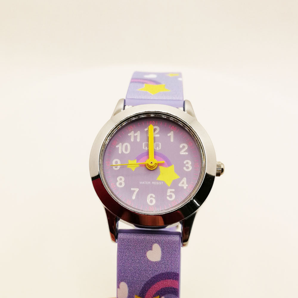 Royal Stars & Hearts Q&Q Kids Watch