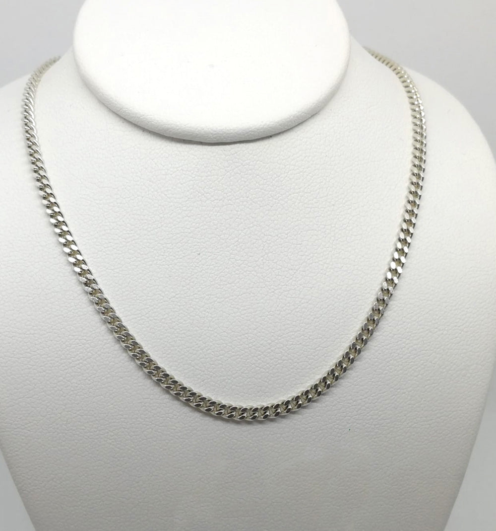 Connell's Sterling Silver Solid Curb 18 Inch Chain
