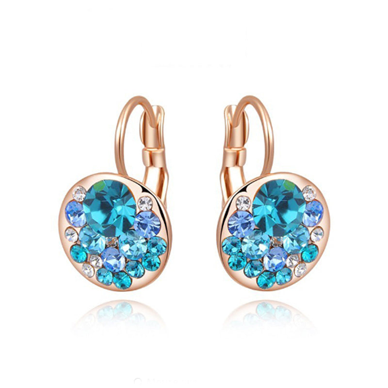Colourblast Blue Bláinaid Swarovski Clasp Earrings