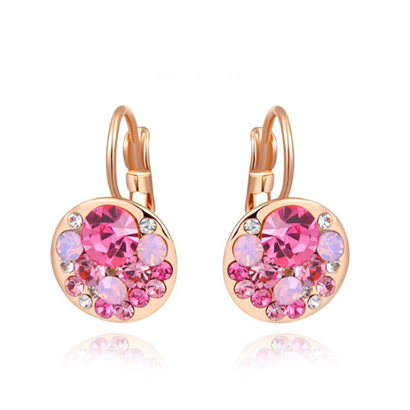 Colourblast Pink Bláinaid Rose Gold Clasp Earrings