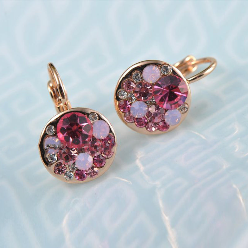 Colourblast Pink Bláinaid Swarovski Clasp Earrings