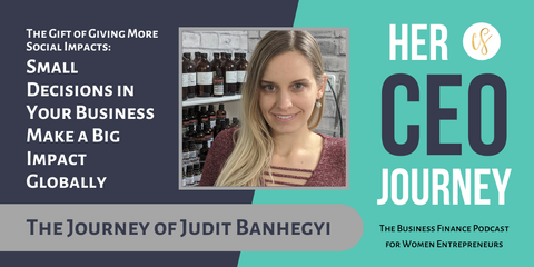 Judit Banhegyi owner of Glowing Orchid Organics headshot with My CEO Journey Podcast Episode about impacts