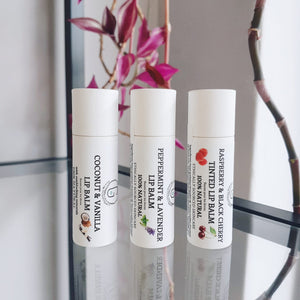 Lip Balm - Coconut & Vanilla (with natural sun blocking minerals)