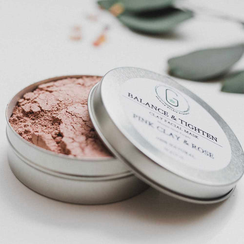 100% Natural Pink Clay & Rose Face Mask (Balance & Tighten) (40 g) Glowing Orchid Organics