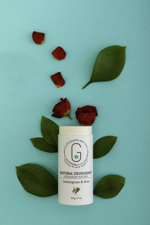 Smell Like Fresh Flowers for over 24 hours Lemongrass Rose Glowing Orchid Organics Deodorant