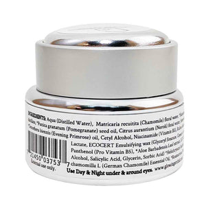 Eye Cream - Chamomile & Helichrysum Back Ingredients 15ml glowing orchid organics anti-flammatory, firms, tightens and tones skin around the eye