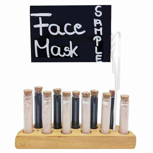 (Sample) FACE MASK display stand - Glowing Orchid Organics