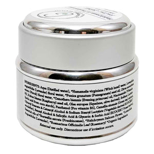 Facial Crème - Helichrysum & Frankincense (30 ml) Back Ingredients Glowing Orchid Organics