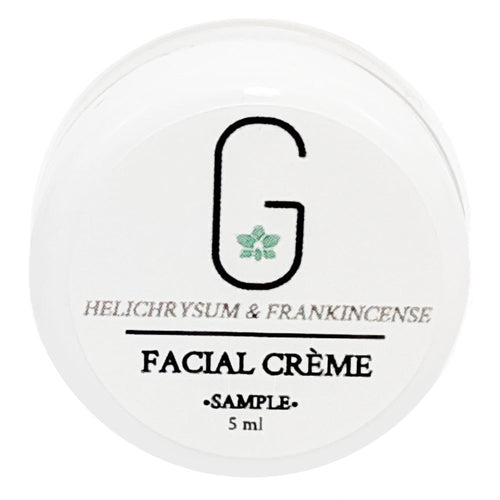(Sample) Facial Crème - Helichrysum & Frankincense (Ultra light) 5ml Glowing Orchid Organics Front