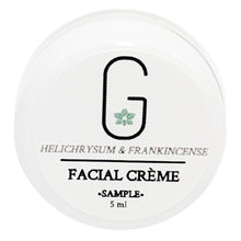 Facial Eye Cream (Sample) - Helichrysum & Chamomile (Firm & Tighten) 5 ml Sample Front Glowing Orchid Organics