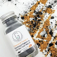 Charcoal & Turmeric (Clarifying & Brightening) Facial Clay Mask in Glass Bottle (40 g | 0.85 oz) Glowing Orchid Organics