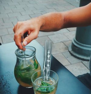 Eco-Friendly Czech Glass Straws