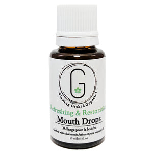 Refreshing & Restorative Mouth Drops (15 ml) Glowing Orchid Organics