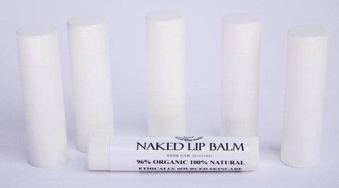 100% Natural Naked Unscented Lip Balm Glowing Orchid Organics