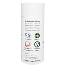 100% Natural Vegan Lemongrass & Rose Deodorant in Plastic free, Biodegradable Paper Tube Container Regular Size Side (84 g | 3 oz) Glowing Orchid Organics
