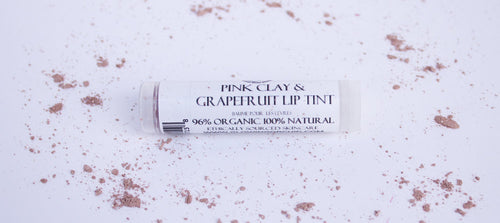 Pink Clay & Grapefruit Lip Balm glowing orchid organics moisturizing made in Canada hand crafted in small batches
