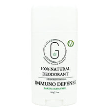100% Natural Vegan Immuno Defense Deodorant in Plastic Recyclable Tube Container Regular Size Front (84 g | 3 oz) Glowing Orchid Organics