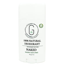 100% Natural Vegan Unscented Naked Baking Soda Free Deodorant in Plastic Recyclable Tube Container Regular Size Front (84 g | 3 oz) Glowing Orchid Organics