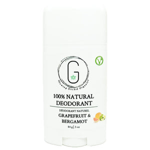100% Natural Vegan Grapefruit & Bergamot Deodorant Full Size Glowing Orchid Organics