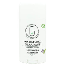 100% Natural Vegan Lavender & Rosemary Deodorant in Plastic Recyclable Tube Container Travel Size Front (84 g | 3 oz) Glowing Orchid Organics