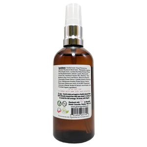 Revitalizing Facial Toner with Biofermented Sea Kelp Hyaluronic Acide & Green Tea Extract ALL Skin Types (100 ml) Back Ingredients Glowing Orchid Organics