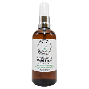 Revitalizing Facial Toner with Biofermented Sea Kelp Hyaluronic Acide & Green Tea Extract ALL Skin Types (100 ml) Front Glowing Orchid Organics