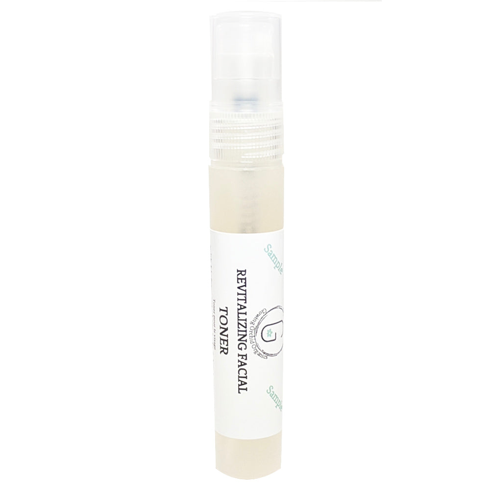 (Sample) Revitalizing Facial Toner - Biofermented Sea Kelp, Hyaluronic Acid & More glowing orchid organics packed with  acids, antioxidants, cosmeceuticals and anti-inflammatory for skin hydration and treatment