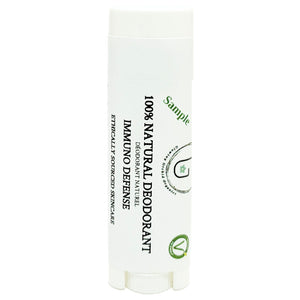 100% Natural Vegan Immuno Defense Deodorant in Plastic Recyclable Tube Container Sample Size Front (7 g | 0.25 oz) Glowing Orchid Organics