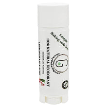 100% Natural Vegan Lemongrass & Rose Baking Soda Free Deodorant in Plastic Recyclable Tube Container Sample Size Front (7 g | 0.25 oz) Glowing Orchid Organics