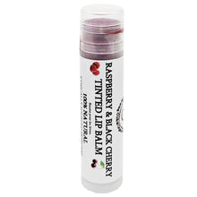 100% Natural Raspberry & Black Cherry Tinted Lip Balm Glowing Orchid Organics